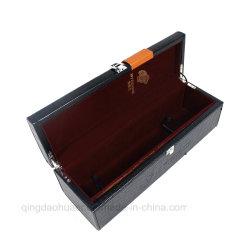 Vintage черный провод фиолетового цвета вина из натуральной кожи в салоне, кожаный чехол классический деревянный ящик для вина бархата вставить