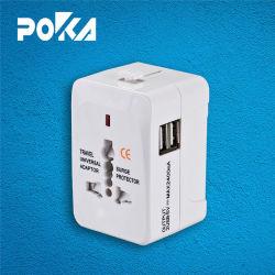 Adaptateur de voyage universel UK US UA UE avec 2*2.4A USB