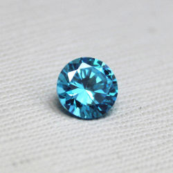 [أا] سائب حجر كريم ماء اللون الأزرق [1مّ] مستديرة باهر قطعة زبرجد حجر كريم لأنّ عمليّة بيع