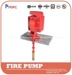 Pompe antincendio centrifughe elencate della turbina dell'UL elettriche o opzione diesel del driver, pompa ad acqua verticale, pompa lunga verticale della turbina dell'asta cilindrica