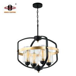 Le métal + verre clair 40W Lampe pendante Standard UL