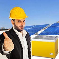 100% angeschaltene Brust-Gefriermaschine-Kühlraum-Solarkühlräume