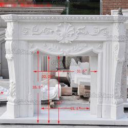 주문 주위 벽로선반 백색 대리석 벽난로 (GSMF-267)