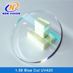1.56 Fsv UV++ 파란 구획 렌즈; 반대로 파란 광선 렌즈