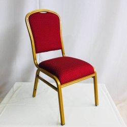 L'acier moderne de haute qualité capot de tissu rouge réception de mariage Salle de banquet Salle de banquet Chaises Meubles utilisés