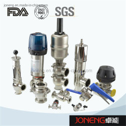 Válvula de bola sanitaria de acero inoxidable, válvula de diafragma, válvula de mariposa (JN-1006)