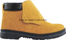 Cheap Wholesale daim Semelle en caoutchouc en cuir des chaussures de sécurité industrielle avec embout en acier