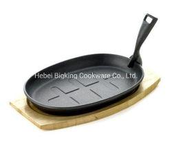 Disco ovale su ordinazione della bistecca del servizio di figura del ghisa