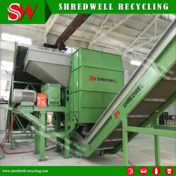 Новый механизм по утилизации шин используется для измельчения отходов шин