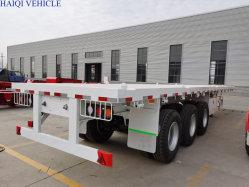 최고 질 60 톤 45FT 3개의 차축 콘테이너 수송을%s 평상형 트레일러 트럭 트레일러