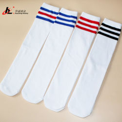 Trois des quatre saisons Strip coton Chaussettes de football pour enfants