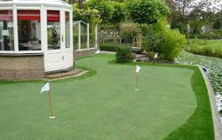 Простая установка DIY искусственных травяных игровая площадка для гольфа