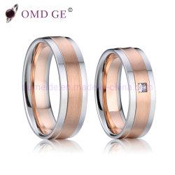 卸し売り新しいデザイン方法316Lステンレス鋼の宝石類の立方ジルコニアのカスタム結婚指輪