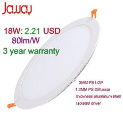 3W/6W/9W/18W/24 Вт утопленную Тонкий светодиодный индикатор панели потолка лампа