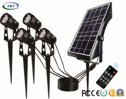 4.8W 4 스포트라이트 LED 정원 또는 경로 또는 공원 점화를 위한 긴 노동 시간을%s 가진 태양 정원 램프