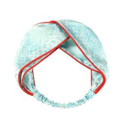 Le contraste de couleur de la tête de la soie Deisgn personnalisé enrouler la bande de tête