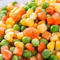 حصاد جديد أخضر رخيصة بالجملة جودة جيدة بروكولي فروزين كارروت حلو حبوب الذرة مجمدة الخضار المختلطة