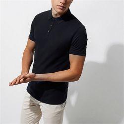 Venda por grosso de alta qualidade aos homens o logotipo personalizado em branco 100% algodão preto Encaixe Quick Dry Sports Golf Pique Polo Shirts