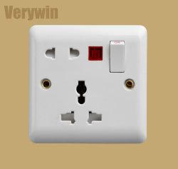 Toma de pared estándar británico interruptor eléctrico de la toma de contacto F417