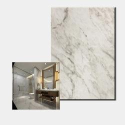 El panel de pared de mármol blanco de decoración Hoja de acero laminado PVC grano