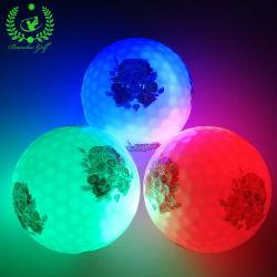 LED-heller bunter blinkender Golfball