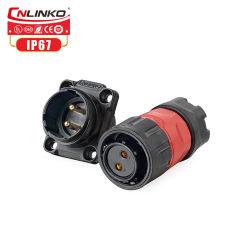 Cnlinko M20 2 männlicher Stecker des Pin-Verbinder-IP65 für Sonnenkollektor-elektrisches Fahrrad