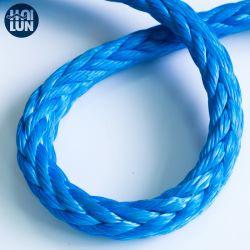 Impaポリエステルカバー12繊維ののためのそして沖合いの編みこみの合成物質Sk75/Sk78 Nylon/PP/PE/UHMWPE/Hmpeのプラスチック海洋ウィンチロープ係留