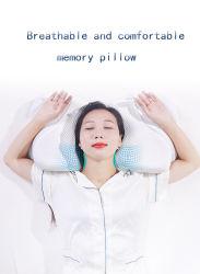 Cuidado de la Salud memoria Pillow espuma para problemas de vértebras cervicales Doble Protección de cuello tipo sándwich