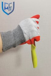高品質13のゲージHppeはやしによって塗られたニトリルサンディが付いている抵抗力があるニトリルの安全作業手袋を切った
