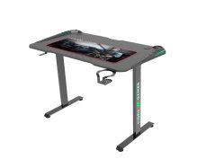 طاولة كمبيوتر مكتب ألعاب Oneray مع ضوء تنفس LED، طاولة راسينغ إي الرياضية مكتب كمبيوتر مريح للمنزل أو المكتب