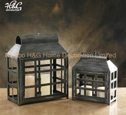 Linterna de Vela de Metal antiguo la decoración del hogar usados