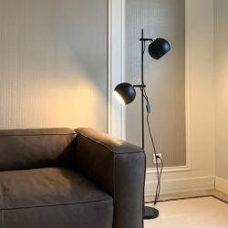 غرفة المعيشة ذات التصميم النورديك الكلاسيكى وغرفة النوم وأريكة وأرضية معدنية