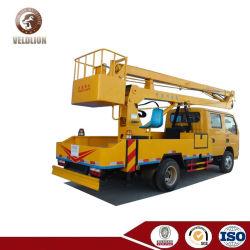 バケツの16m Liftngの高さのトラックによって取付けられる空気の働きプラットホーム200kg