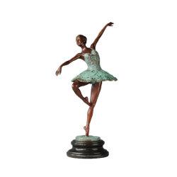 Ballett-Tänzer-Statue-Bronzen-weiblicher Skulptur-Ausgangsdekor