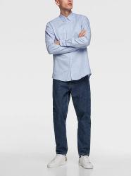 Van de Katoenen van 100% Overhemden Mens van de Herfst Overhemden van Mens de Unieke Slanke Masculinas Afgedrukte In het groot Toevallige