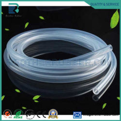 Umweltfreundliche kundenspezifische Hitzebeständigkeit-transparente gute elastische Nahrungsmittelgrad-Raum-Silikon-Gummigefäß-Schlauchleitung