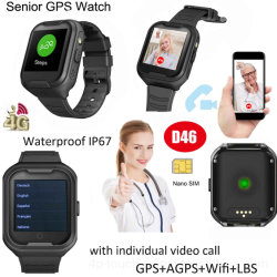 IP67 GPS impermeável Tracker Vigilância Smart Phone com memória de grande capacidade D46