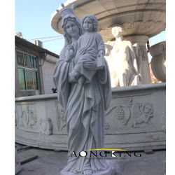 맞춤 제작 대리석 Vintage Madonna와 어린이 동상