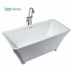 自然で白い大理石の石として販売のための4本の足の支えがない浴槽