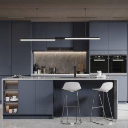 Panel de puerta pintada de alto brillo UV Lujo moderno gabinete de cocina