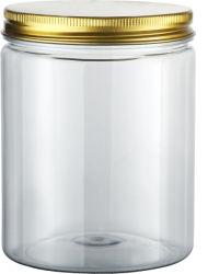 85*85mm tapa de aluminio de plástico PET personalizado embalaje transparente tarros de la botella de agua para la alimentación de perfumes cosméticos