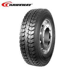 Pneu de mineração OTR HK859 Llantas Hawkway fábrica de pneus de camiões Radial TBR 295/80R22.5 315/80R22.5 22pr Neumaticos/pneumáticos