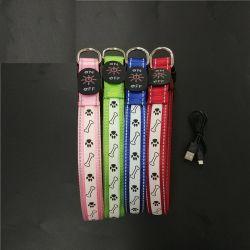 Зарядка через USB ПЭТ втулку светодиодный индикатор собака кольца настройки