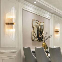 Moniteur de chevet Livingroom Lampe LED de décoration Bougeoir Accueil Salle de bains de lumière Mur Crystal Golden Light (WH-OU-152)