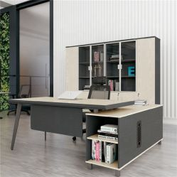 Melamin-Vorstand-weißer kundenspezifischer L-förmiger Büro-Möbel-hölzerner Direktionsbüro-Schreibtisch
