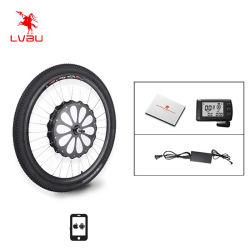 عجلة Lvbu 16-29 بوصة 700cc عجلة تحويل مجموعة تحويل الدراجة E متوسط الدفع البطارية مضمنة تصل إلى 35 كم/ساعة