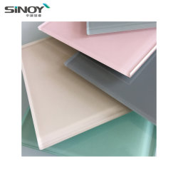 Sinolaco 2mm - 6 mm de verre coloré peint arrière / verre laqué pour l'intérieur d'applications, fabriqué par Sinoy Mirror Inc
