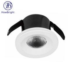 مصباح حجرة منتج 1 واط 3 واط مصباح سقف قابل للضبط موضع غائر ضوء LED خفيف صغير ضوء LED خفيف