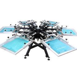 Vente chaude Mk606-HD Micro-Registration Hevy devoir manuel de l'écran de soie de l'imprimante Carrousel Textile sérigraphie de la machine avec les colliers de serrage latérale