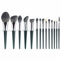 Jeu de pinceaux de Maquillage professionnel Premium Poignée de cuivre en poudre Fard Kabuki Pinceau Visage de mélange de produits cosmétiques